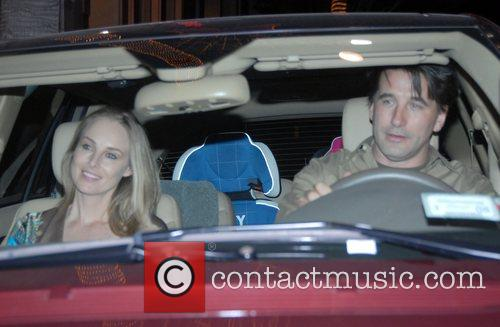 Chynna Phillips and William Baldwin leaving Mr Chow...