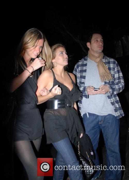 Nicky Hilton and friends leaving Mr Chow restaurant...