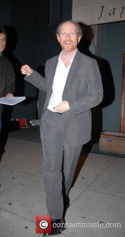 Ron Howard leaving Mr Chow restaurant Los Angeles,...