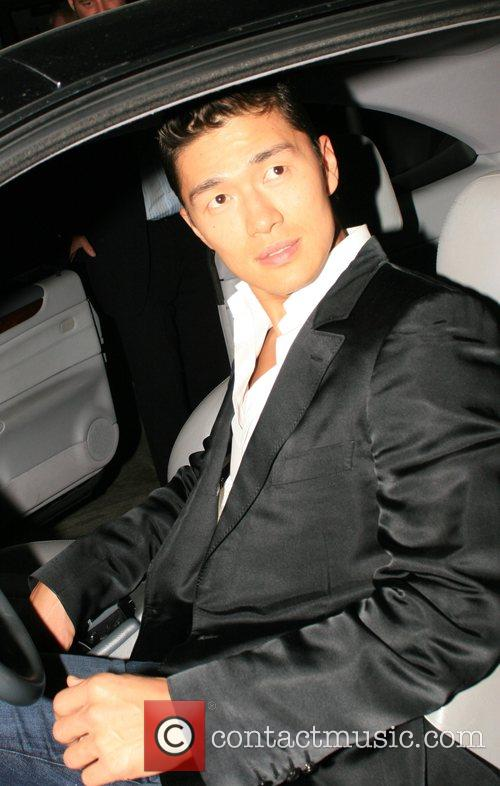 Rick Yune Leaves Mr Chow restaurant after dinner....