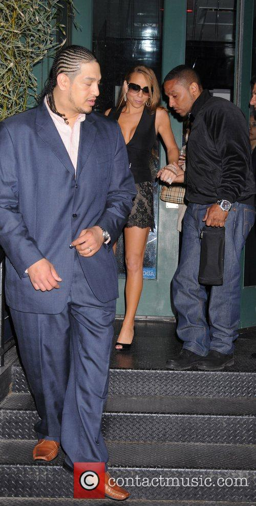 Mariah Carey leaving her private party at Mr...