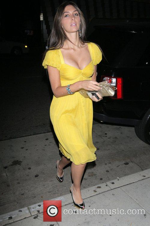 Arriving at the Mr Chow restaurant