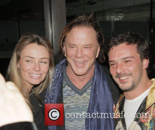 Mickey Rourke leaving Mr Chow Los Angeles, California