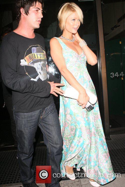 Brandon Davis and Paris Hilton leaving Mr Chow...