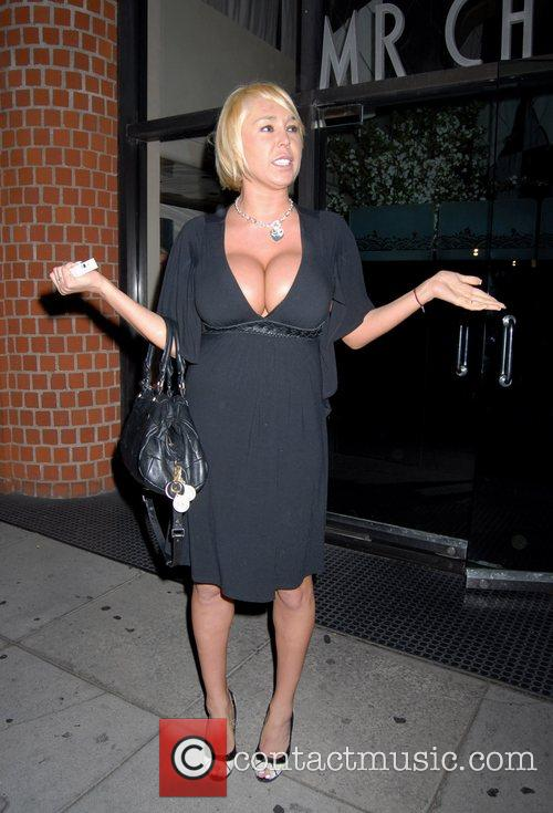 Mary Carey leaving Mr Chow restaurant.The adult movie...