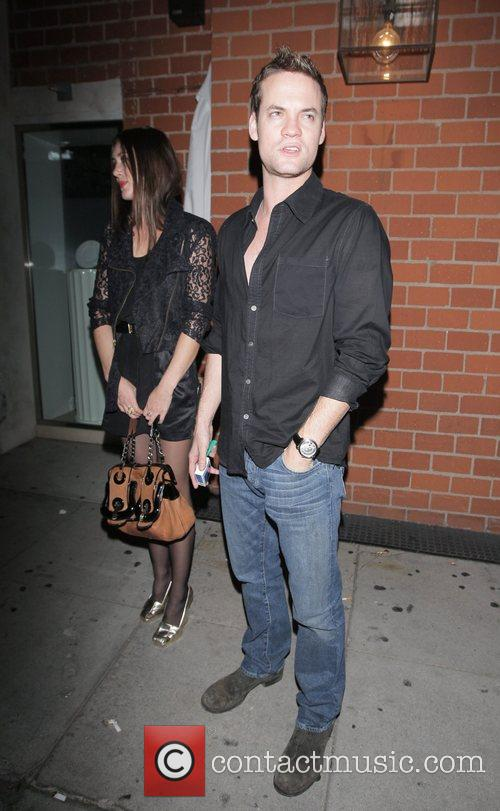 Shane West leaving Mr Chow restaurant in Beverly...