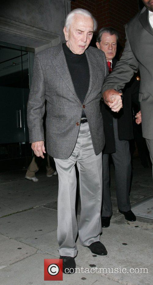 Kirk Douglas leaving Mr Chow restaurant