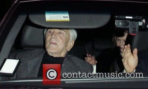 Kirk Douglas leaving Mr Chow restaurant Beverly Hills,...
