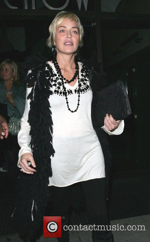 Sharon Stone leaving Mr Chow restaurant Beverly Hills,...