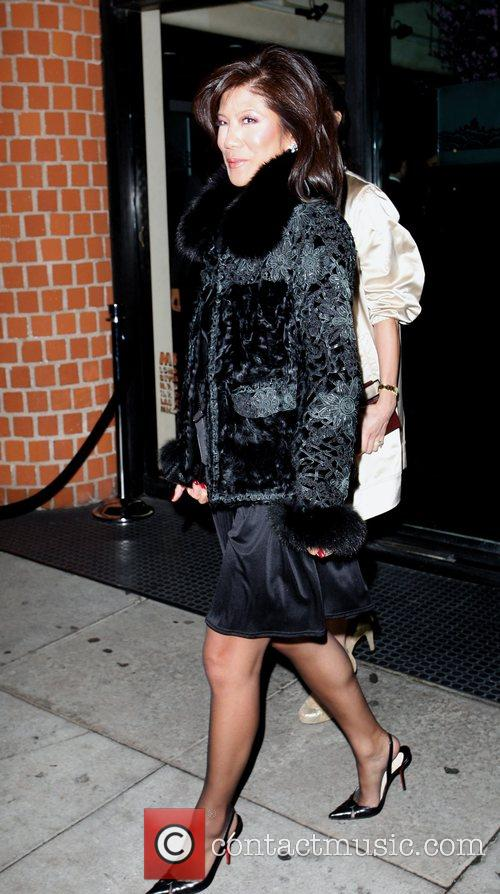 Julie Chen leaving Mr Chow's Los Angeles, California