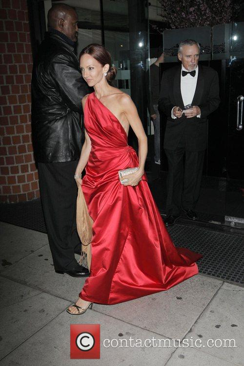 Dennis Hopper and Victoria Duffy leaving the Mr...
