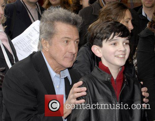 Dustin Hoffman and Zach Mills UK film premiere...