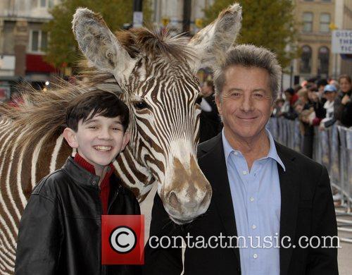 Zach Mills and Dustin Hoffman  UK film...