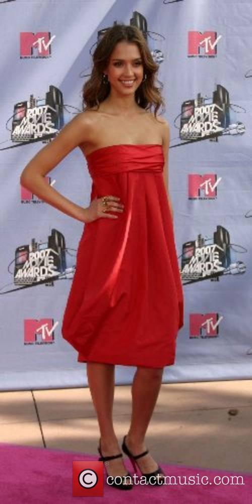 Jessica Alba MTV Movie Awards 2007 at the...