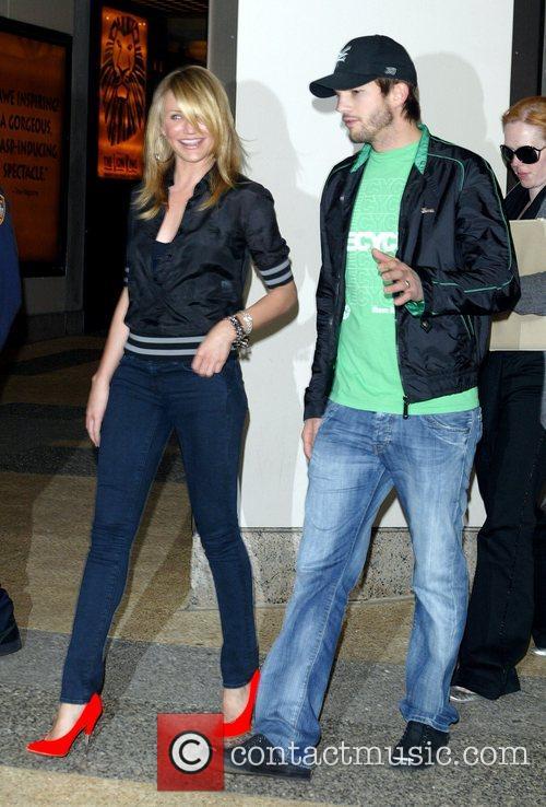 Cameron Diaz and Ashton Kutcher leave the MTV...