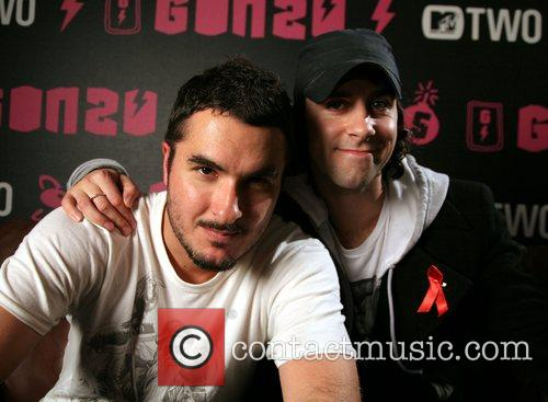 Zane Lowe (L) and Paul Smith of Maximo...