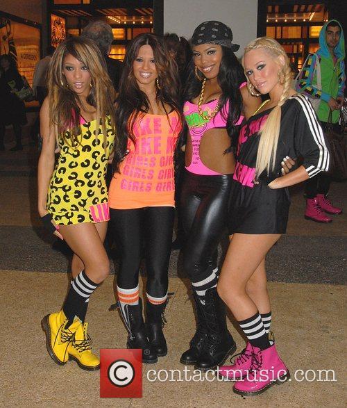 Girlicious (l-r) Chrystina Sayers, Natalie Mejia, Tiffanie Anderson...