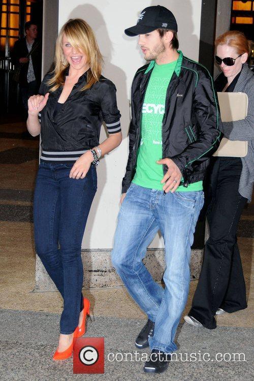 Cameron Diaz and Ashton Kutcher outside MTV TRL...