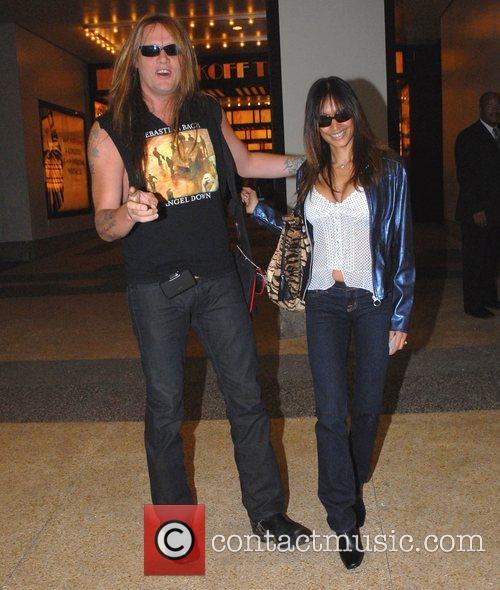 Sebastian Bach and wife Maria Bierk outside MTV...
