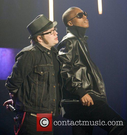Onstage at the mtvU Woodies Awards at Roseland...
