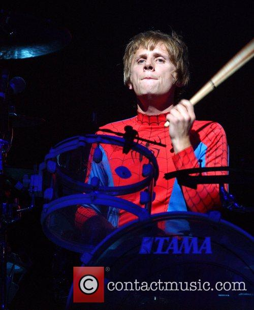 Dominic Howard of Muse  performing live at...