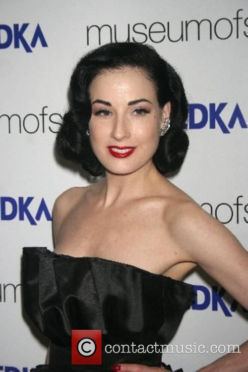 Dita Von Teese at the Museum of Sex...
