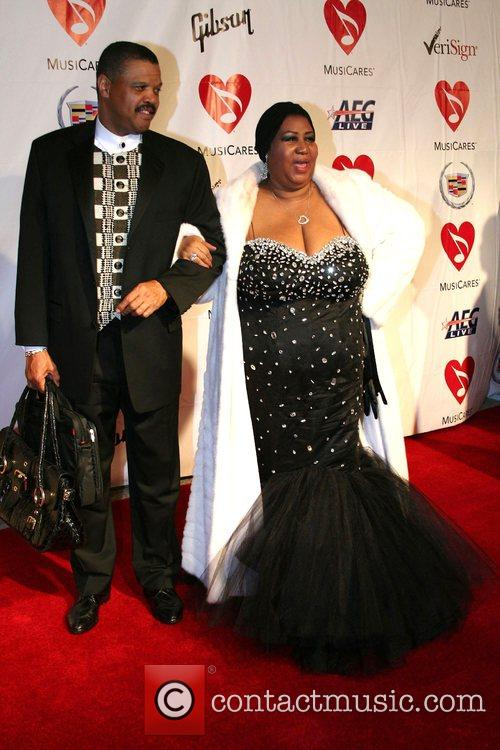 Aretha Franklin and guest MusiCares Honors Aretha Franklin...