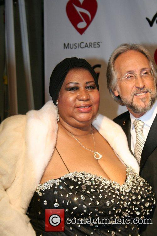 Aretha Franklin and Neil Portnow 1