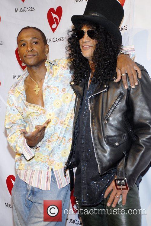 Tommy Davidson and Slash