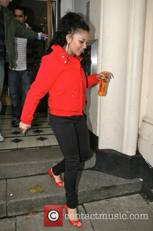 Mutya Buena leaving the Radio 1 Maida Vale...