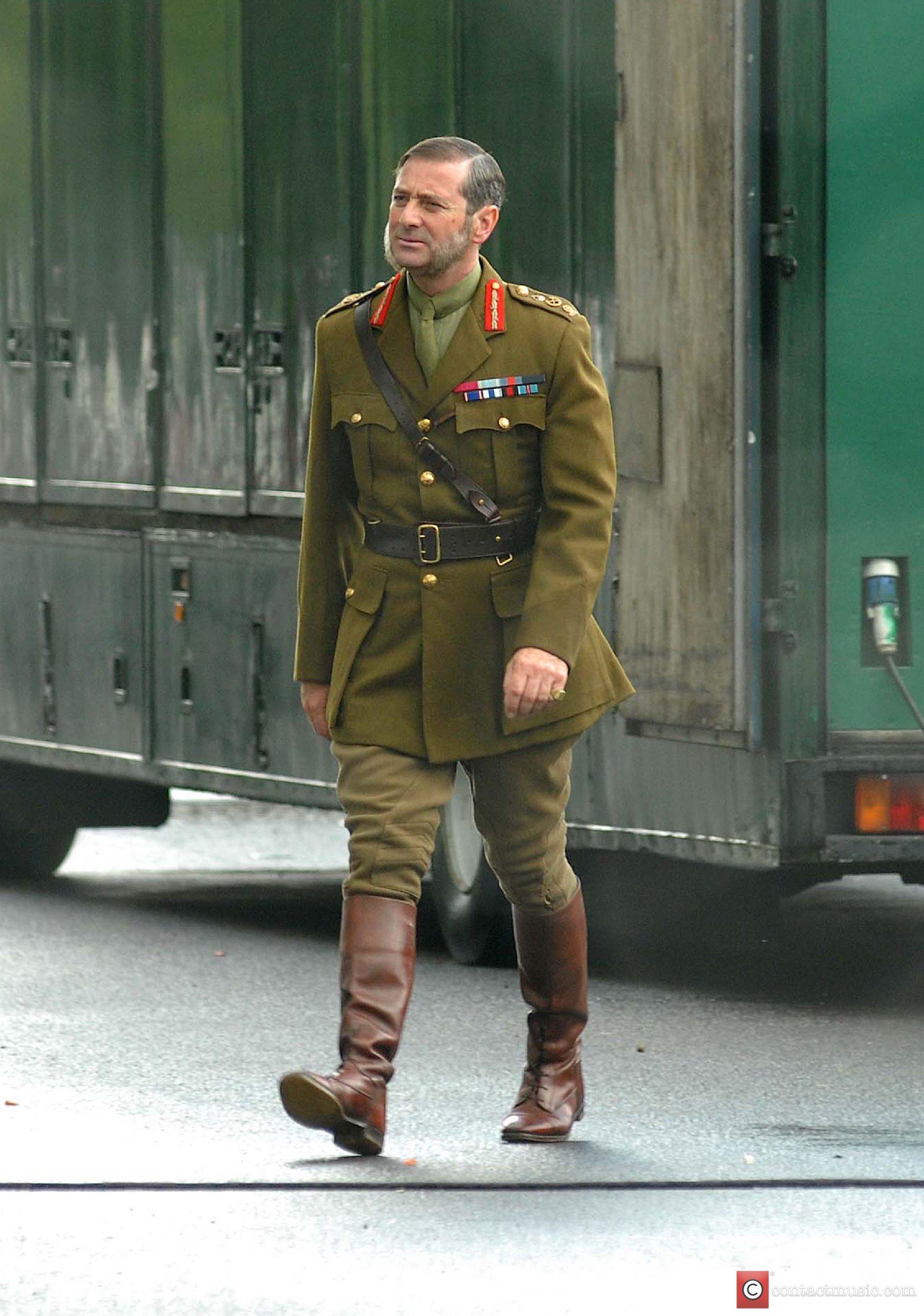 Actor Julian Wadham on the set of TV...