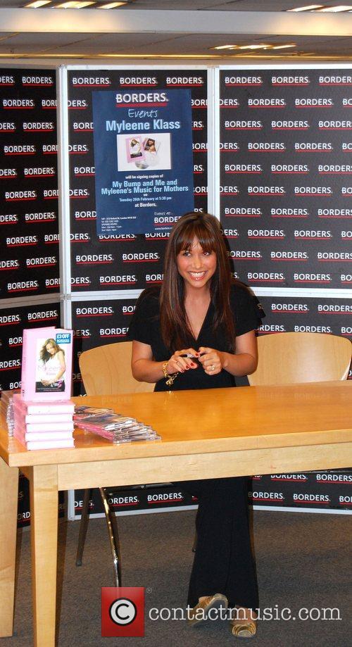 Myleene Klass At her book signing in Boarders...
