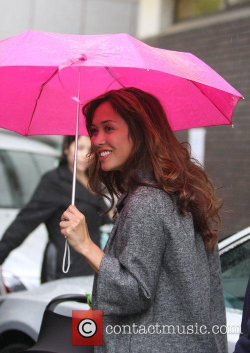 Myleene Klass arriving at the GMTV studios London,...