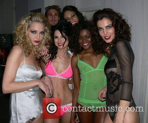 Models during a Lingerie fashion show by Diesel...