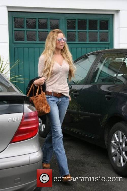 Nadine Coyle leaving her house London, England