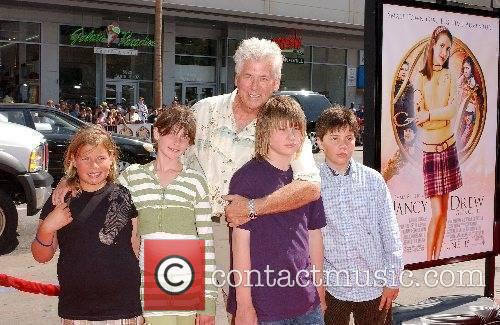 Barry Bostwick with his children and friends World...