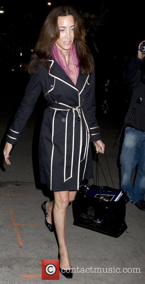 Nancy Shevell leaving her Midtown Manhattan hotel where...