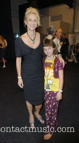 Nanette Lepore and daughter Mercedes-Benz Fashion Week New...