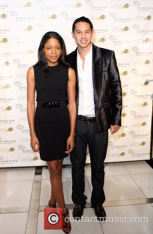 Naomie Harris, Rodney Chee-a-tow Of Chopard Bahamas At The 4th Annual Bahamas International Film Festival On Tuesday, December 11, 2007 At Aura Nighclub At Atlantis, Bahamas. Harris (pirates Of The Caribbean 2, After The Sunset and 28 Days Later) Was Presented With The Bahamas International Film Festival's Rising Star Award. (photo/tim Aylen)