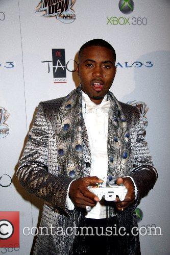 Rapper Nas celebrates his birthday at TAO nightclub...