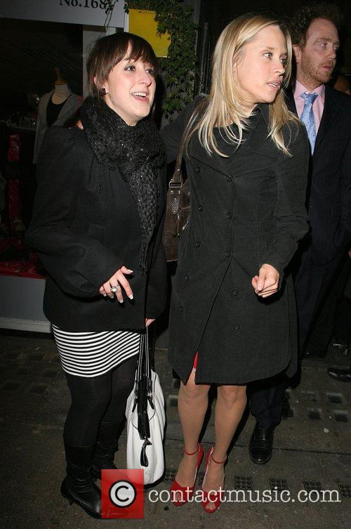Beth Cordingly and Natalie Cassidy leave Tamarai restaurant...