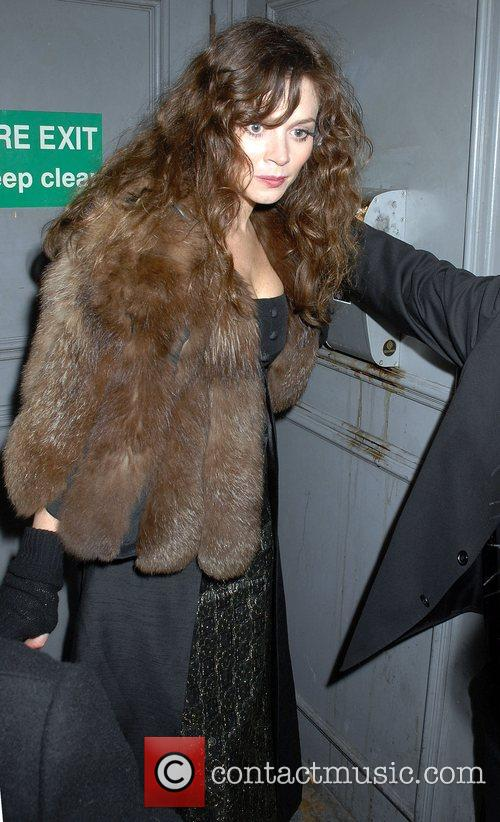 Anna Friel leaving The Pigalle Club London, England