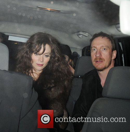 Anna Friel and David Thewlis leaving The Pigalle...