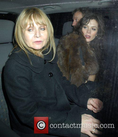 Anna Friel and friend leaving The Pigalle Club...