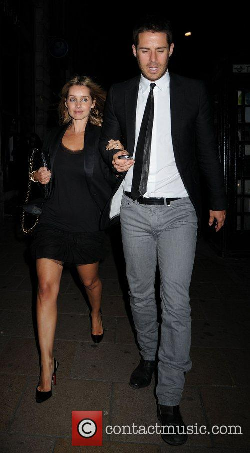 Louise Redknapp and Jamie Redknapp leaving The Pigalle...