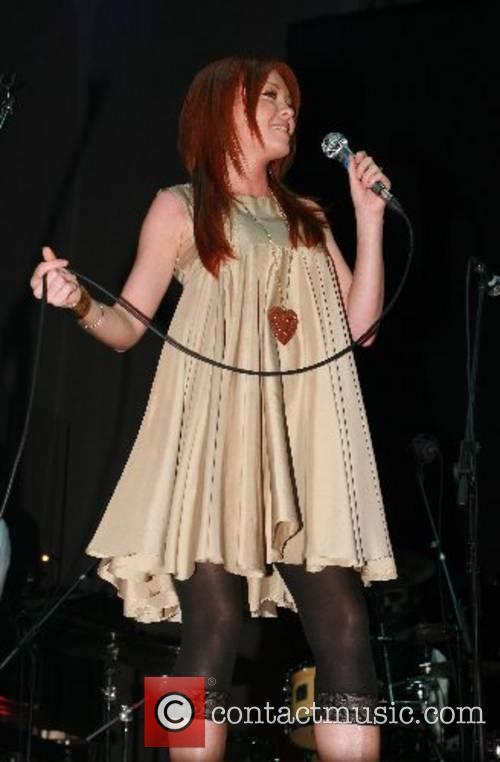 Natasha Hamilton performing at the Manchester Evening News...