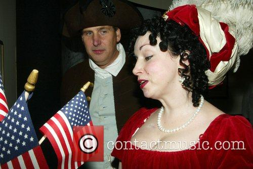 Impersonators of President James Madison and his wife...