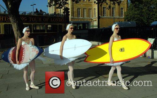 Ballet dancers English National Ballet photocall in front...