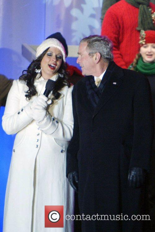 Sara Evans and President George W Bush 2