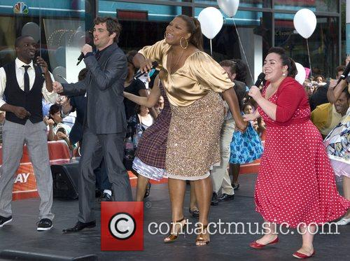 The cast of 'Hairspray' performs on NBC Today...